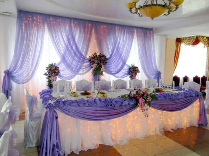 Варианты украшения зала на свадьбу своими руками:  стильный дизайн, интересные идеи