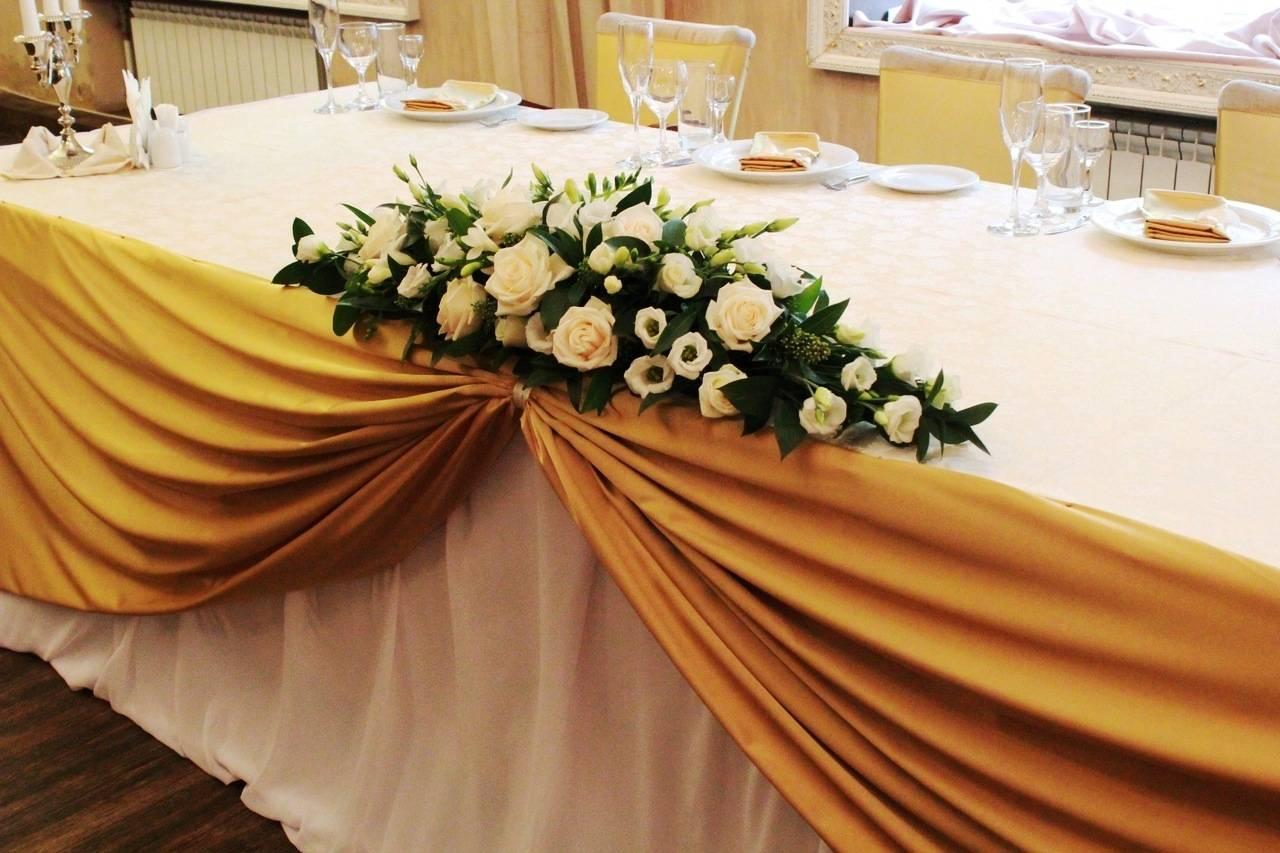 Свадебное украшение стола. украшение стола жениха и невесты: мастер-класс, фото
