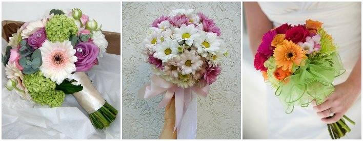 Свадебный букет невесты из подсолнухов  фото