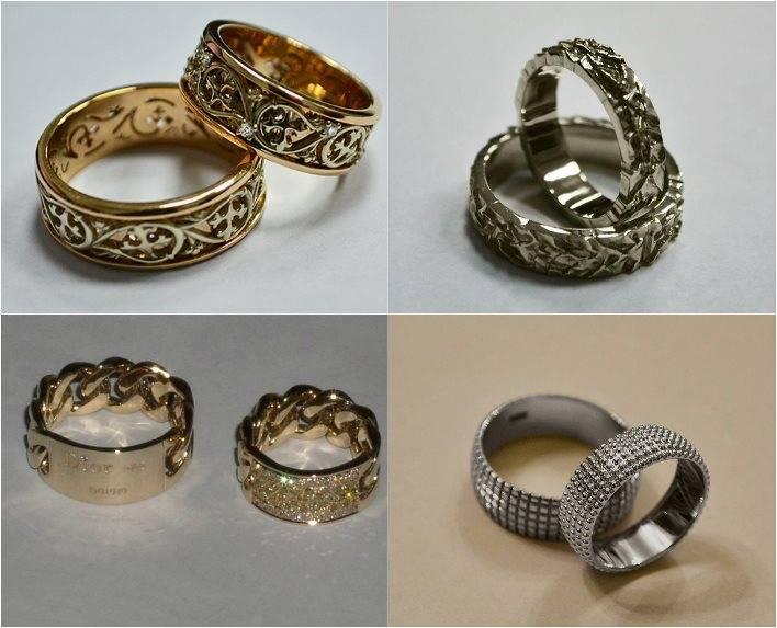Эксклюзивные обручальные кольца (53 фото): оригинальные идеи дизайна свадебных парных колец ручной работы