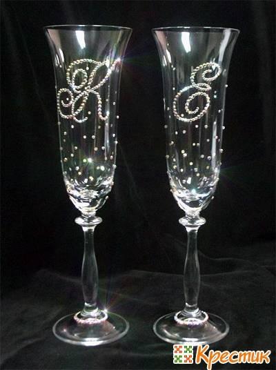 Свадебные бокалы своими руками, мастер-класс мастера hand-made