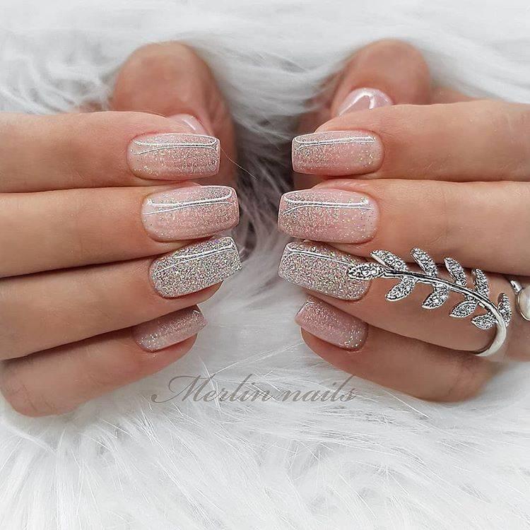 Изысканный френч свадебный для ногтей разных форм и длины