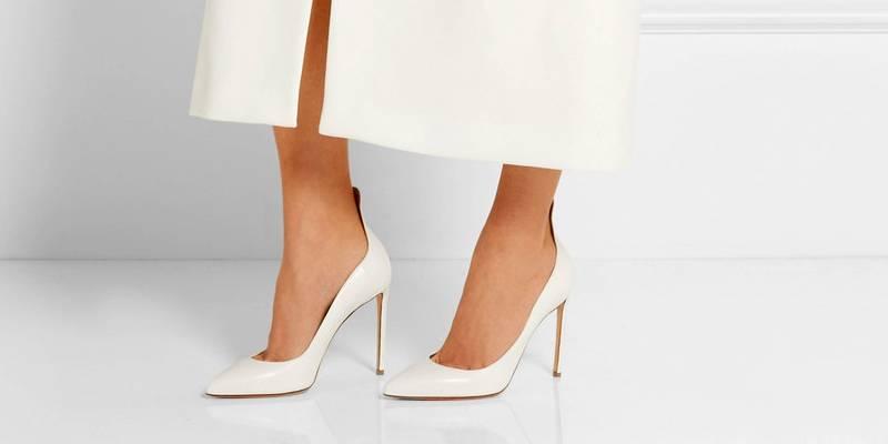 Свадебные туфли без каблука – фото