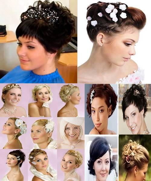 Красивые прически свадебные на средние волосы