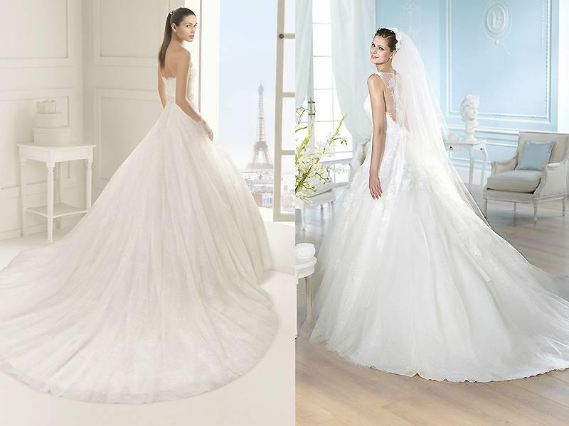 Свадебные платья со шлейфом — всегда в мейнстриме особо торжественного шика + 78 фото