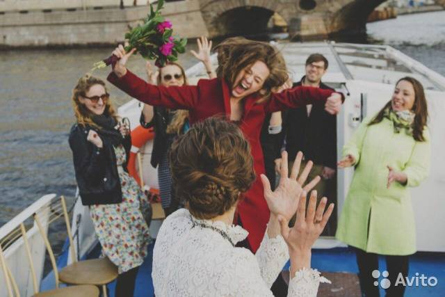 Свадьба на теплоходе — особенности организации (фото)