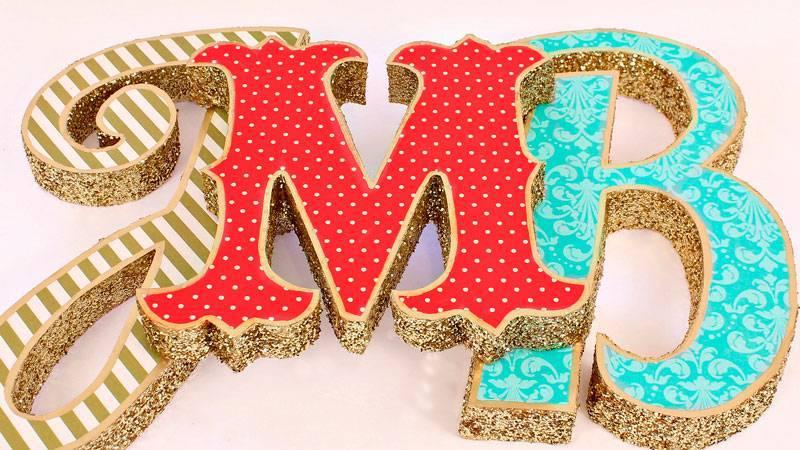 Буквы на свадьбу своими руками, идеи и советы