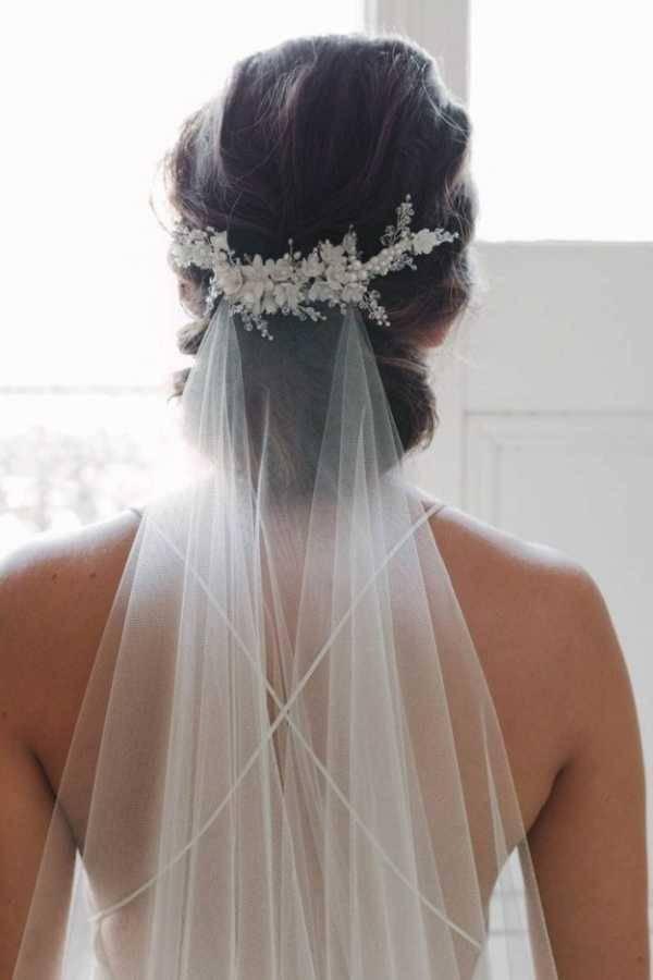 Свадебные прически на длинные волосы: фото 2018 года с фатой