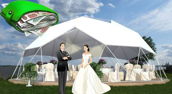 Стоимость проведения свадьбы
