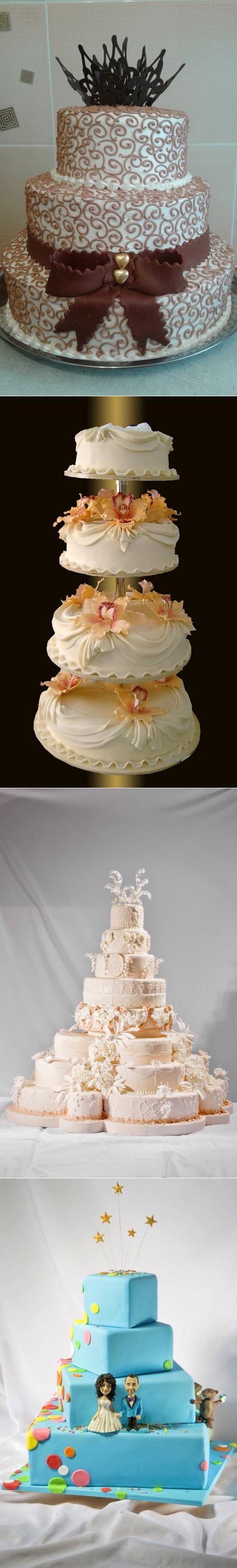 Градиентовые торты – модный тренд для свадьбы летом — рассматриваем по пунктам