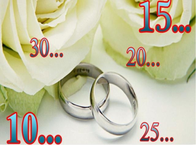 Годовщины свадьба и их названия по годам: все юбилеи свадьбы