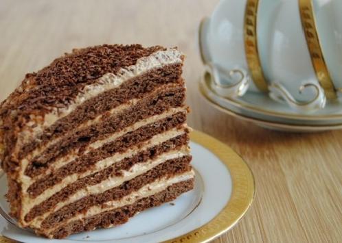 Торт медово-шоколадный с орехами — рецепт приготовления