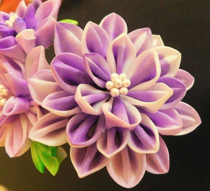 Цветы из лент своими руками (канзаши) с фото и видео