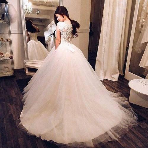 Свадебные платья с маечкой – фото