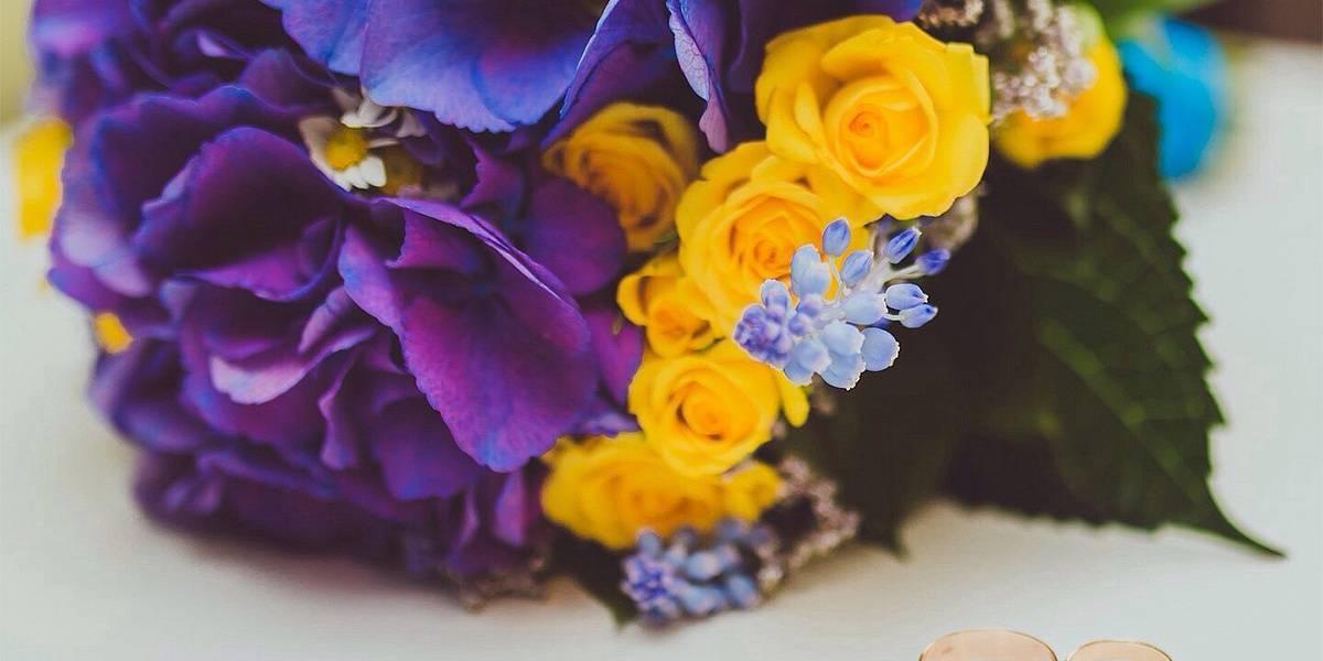 Гортензия. свадебный букет для невесты
