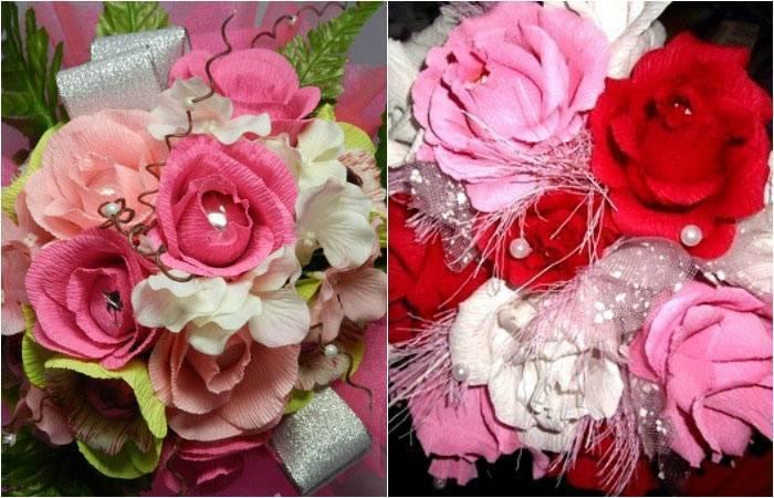 Сладкий подарок из конфет на свадьбу в виде букета или красивой композиции
