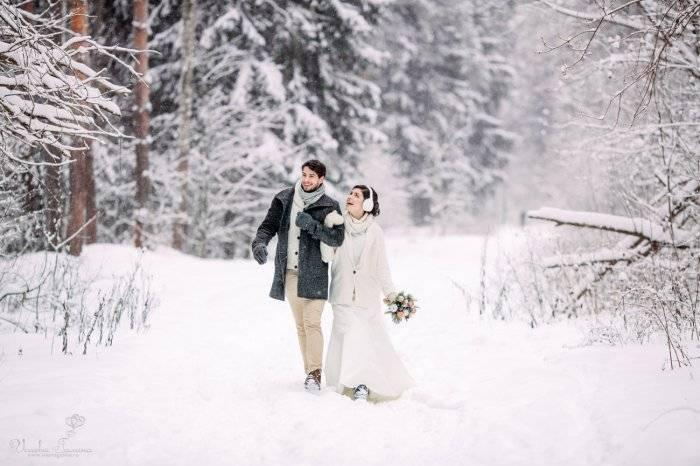 Зимняя свадебная фотосессия – интересные идеи на природе и в студии