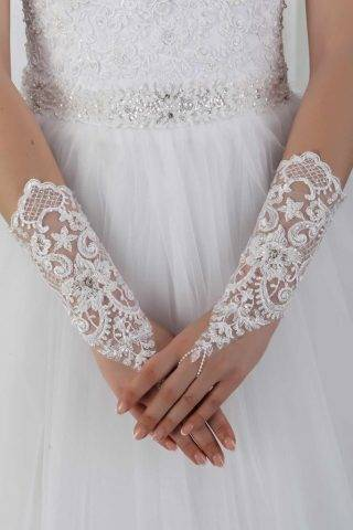 Свадебные перчатки — «вау» украшение к свадебному платью