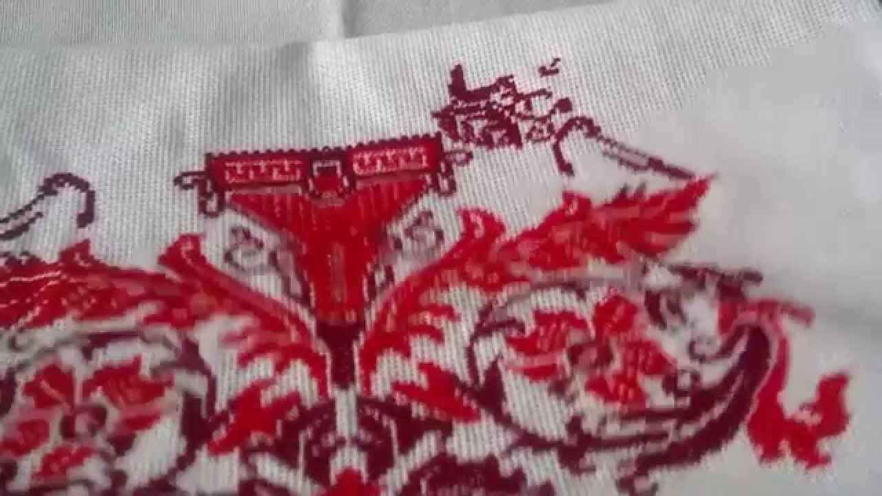 Вышивка крестиком. свадебный рушник своими руками. мастер-класс с пошаговыми фото