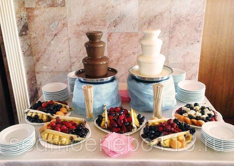 Как правильно выбрать фонтан на свадьбу: шоколадный, холодный, огненный, дорожка из фонтанов?