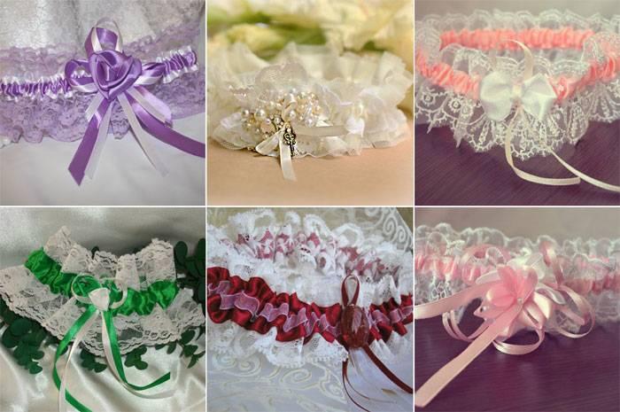 Свадебная подвязка для невесты: идеи и фото