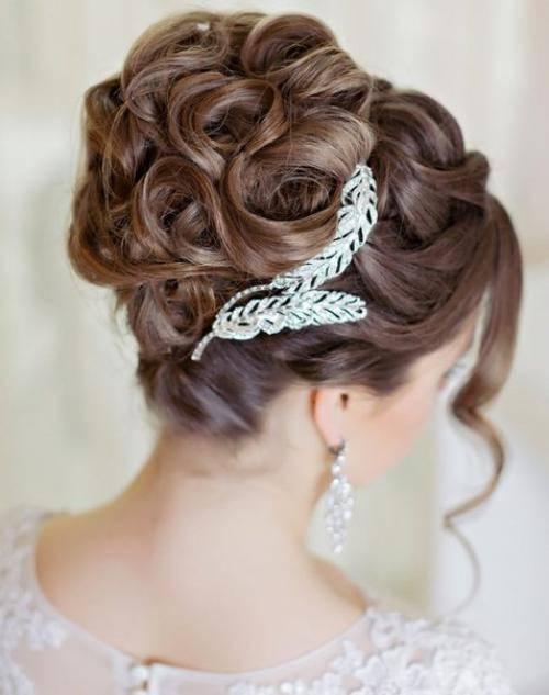 Красивые свадебные прически на средние волосы с челкой