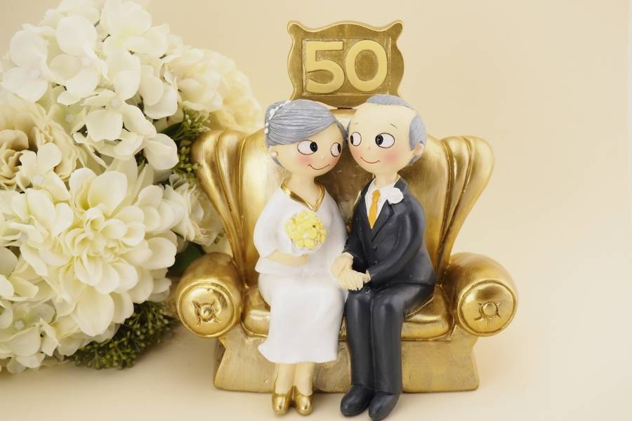 Готовый сценарий золотой свадьбы: веселые конкурсы и красивые стихи