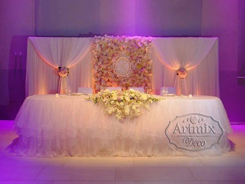 Красивые идеи украшения зала на свадьбу цветами