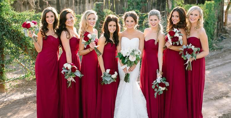Свадьба в бордовом цвете: торжественность и аристократизм