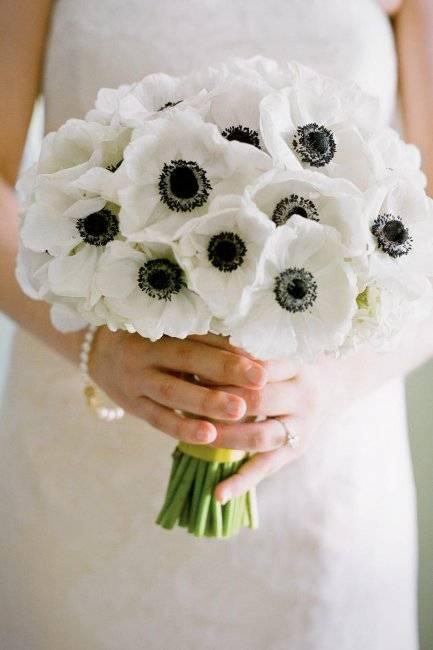 Свадебный букет из анемонов – нежная изысканность