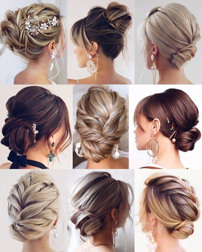 Свадебные прически с косами на длинные и средние волосы