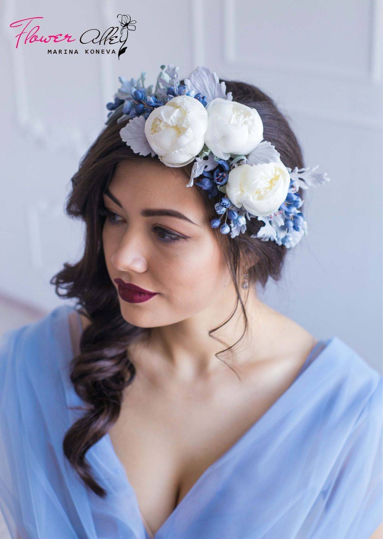 Свадебный венок для невесты, фото обзор
