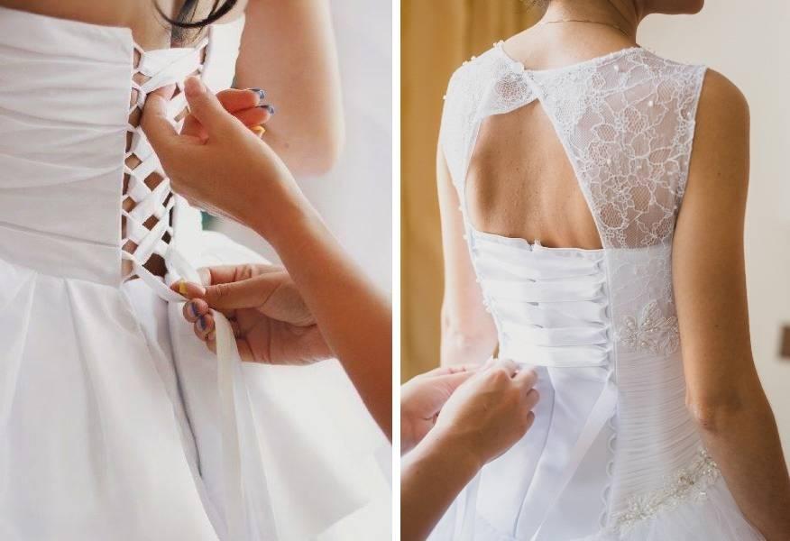 Как следует шнуровать свадебное платье
