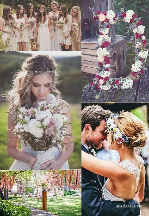 Свадебное платье в стиле бохо – богемный шик для свадьбы