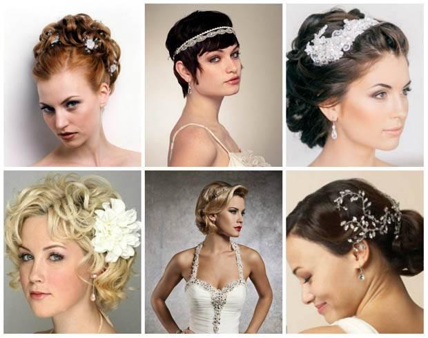 Свадебные причёски 2018-2019: на короткие волосы
