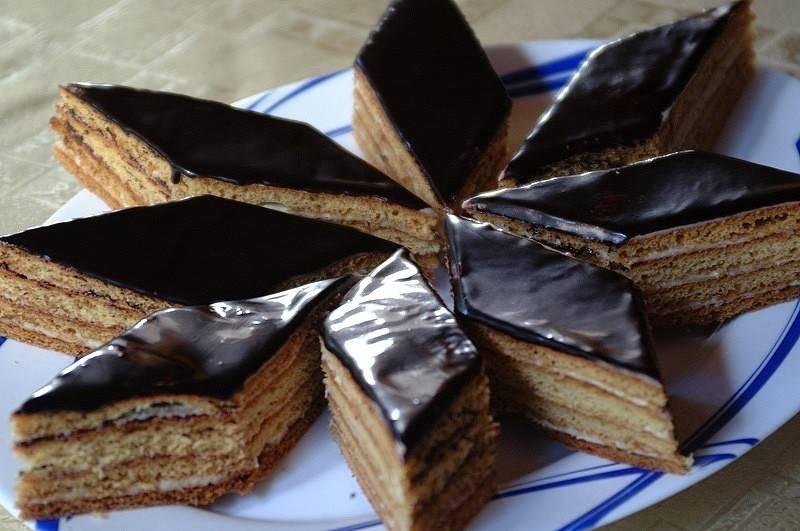 Медовый торт с грецкими орехами- старинный рецепт