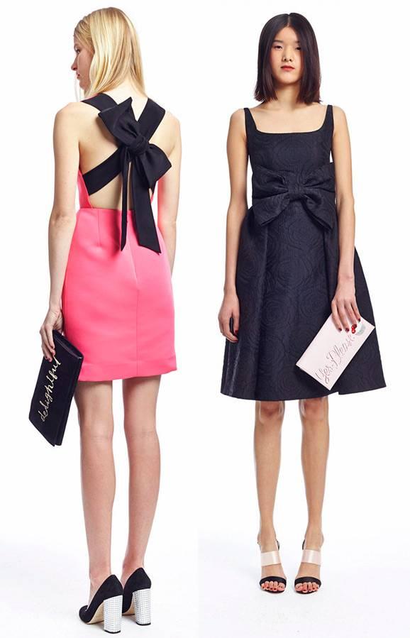 Модное платье с бантом – впереди, сзади, на шее, груди, спине, плече, талии, модные модели, луки, аксессуары и прически