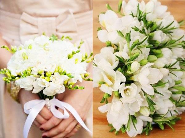 Свадебный букет из пионовидных роз: фото и идеи