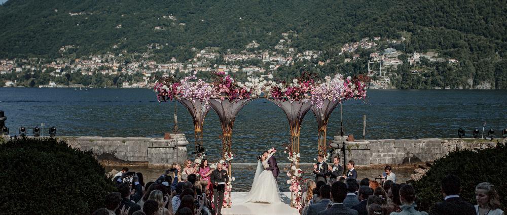Вечерняя свадебная церемония