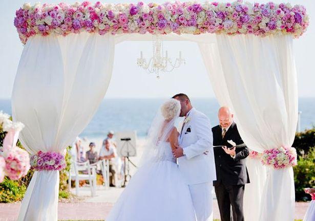 Поделка изделие свадьба лавандовая свадьба арка + мастер-класс бусины ткань