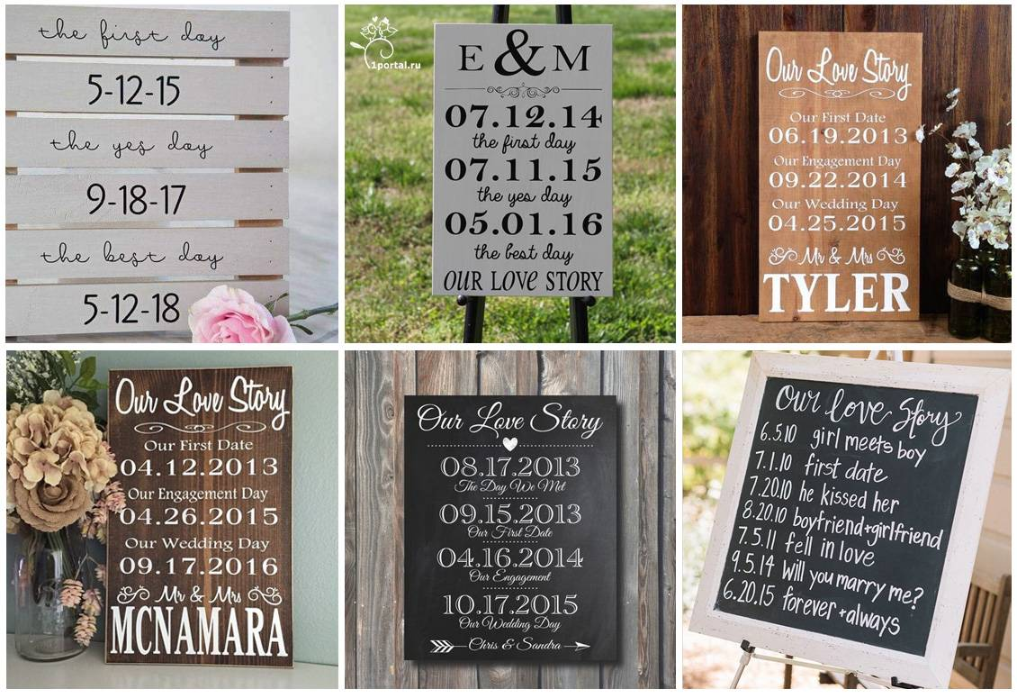 Выбираем таблички для свадебных фотосессий