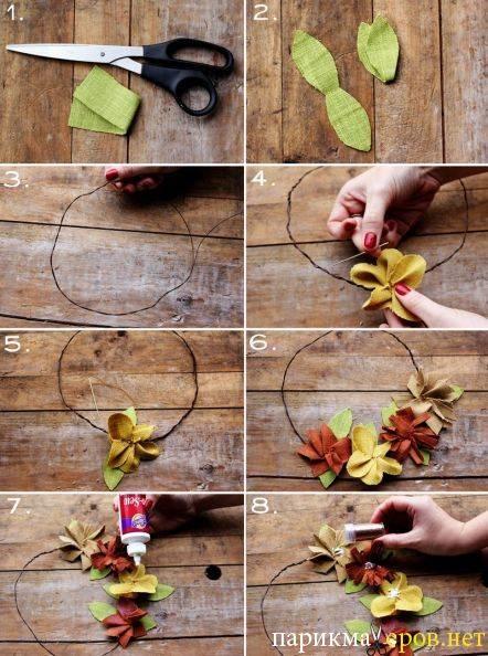 Как изготовить свадебные венки своими руками?