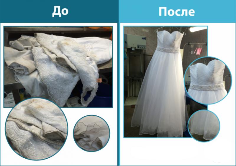 Химчистка свадебного платья: из чего складывается стоимость, как чистят платье
