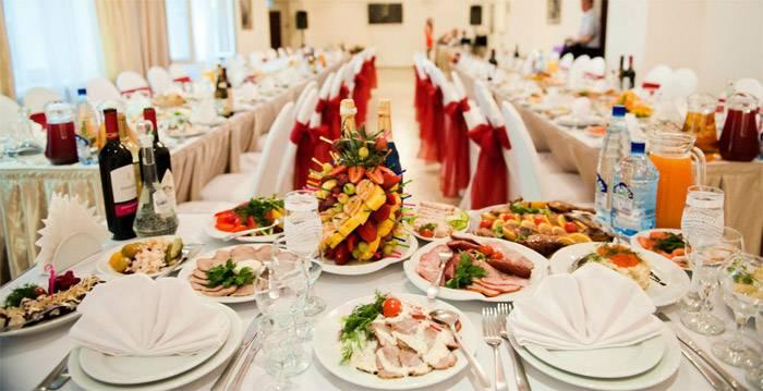 Составляем меню свадебного стола на 50 человек