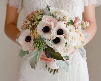 Зимний свадебный букет (фото)