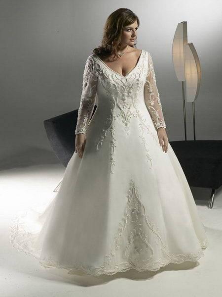 Фасоны свадебных платьев для полных