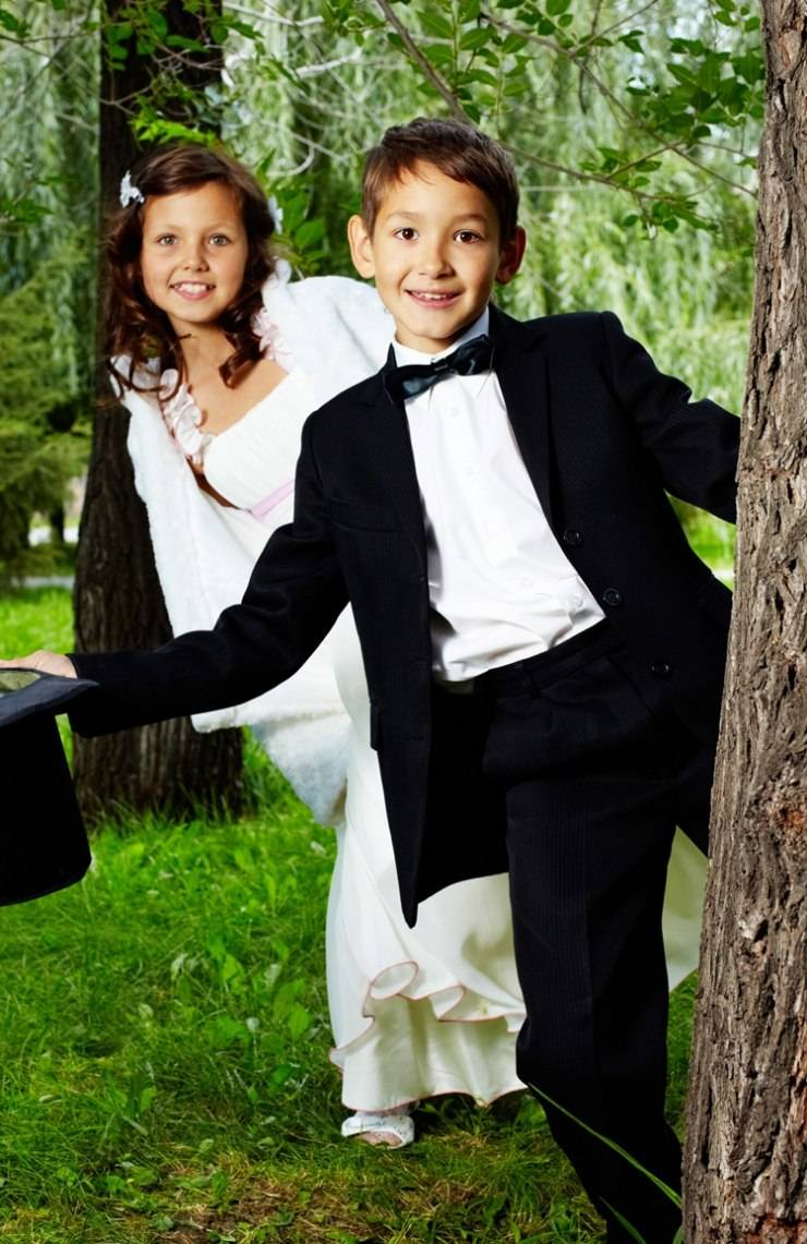 Дети: чем их занять на свадьбе?