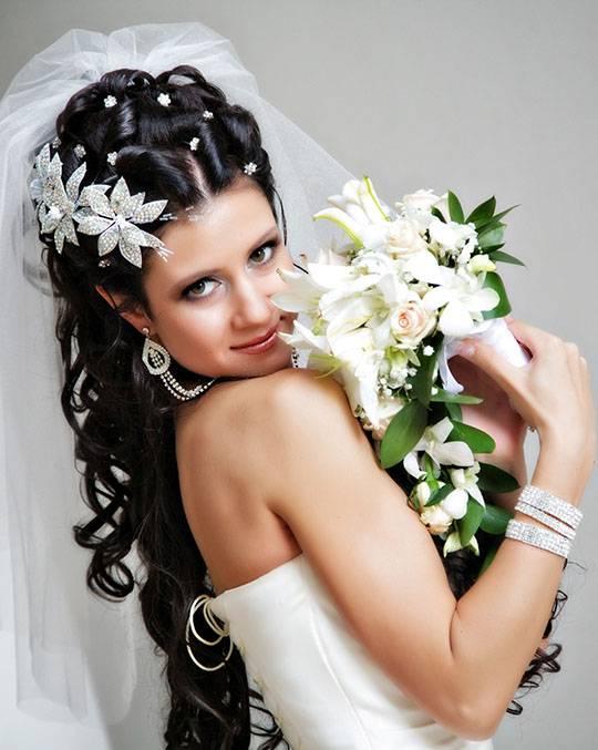 Свадебная прическа с распущенными волосами (фото)