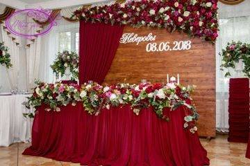 Как оформить банкетный зал на свадьбу? лучшие варианты!