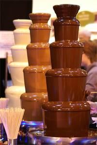 Шоколадный фонтан на свадьбу -  свадебное шоу